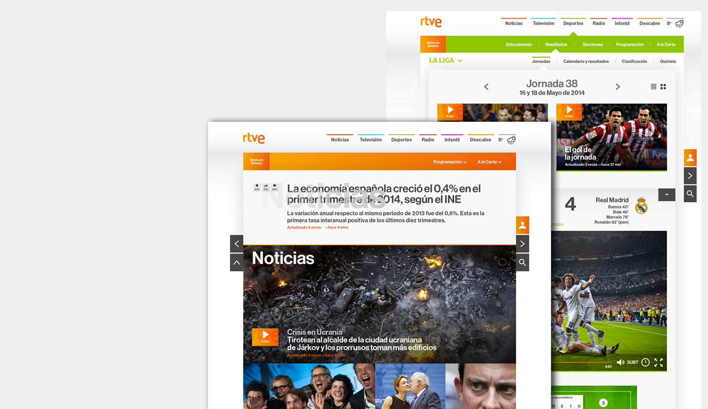RTVE website redesign <